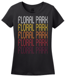 Ladies Black Floral Park, NY | Retro, Vintage Style New York Pride  T-shirt