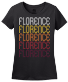 Ladies Black Florence, TX | Retro, Vintage Style Texas Pride  T-shirt