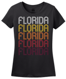 Ladies Black Florida, NY | Retro, Vintage Style New York Pride  T-shirt