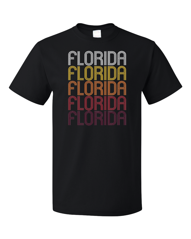 Standard Black Florida, NY | Retro, Vintage Style New York Pride  T-shirt