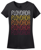 Ladies Black Floydada, TX | Retro, Vintage Style Texas Pride  T-shirt