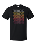 Standard Black Ford Heights, IL | Retro, Vintage Style Illinois Pride  T-shirt