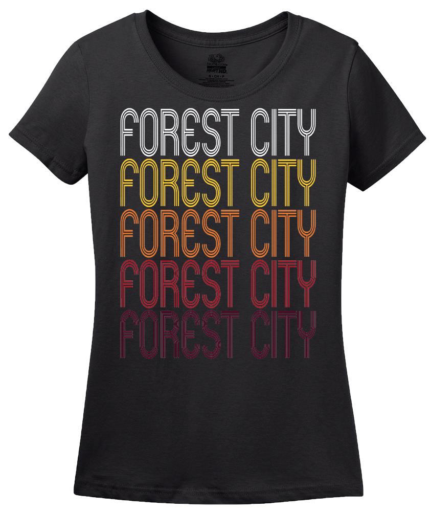 Ladies Black Forest City, PA | Retro, Vintage Style Pennsylvania Pride  T-shirt