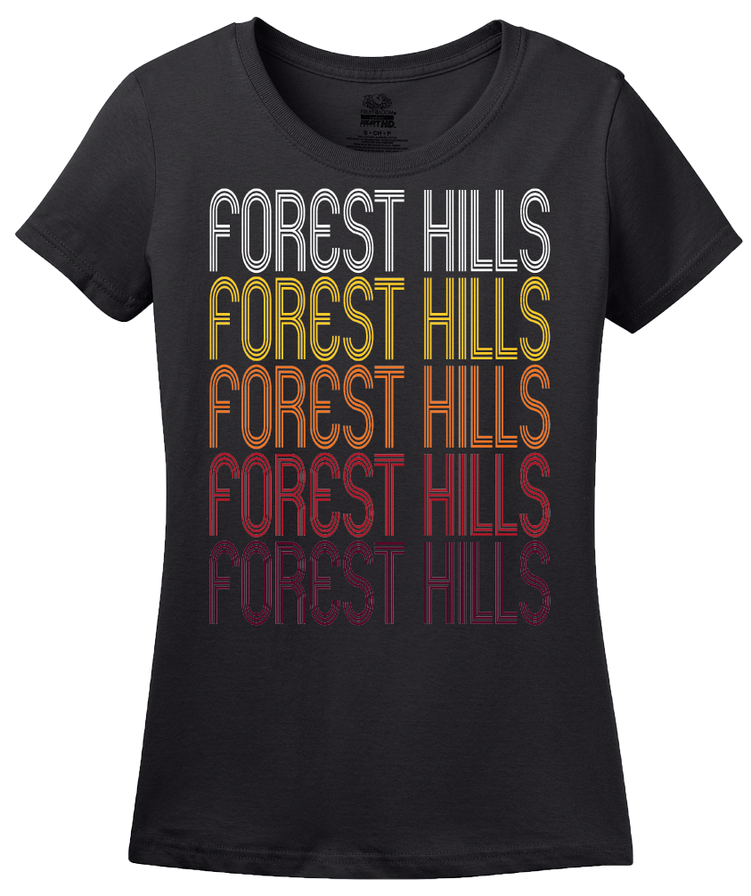 Ladies Black Forest Hills, TN | Retro, Vintage Style Tennessee Pride  T-shirt