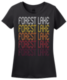 Ladies Black Forest Lake, MN | Retro, Vintage Style Minnesota Pride  T-shirt