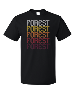 Standard Black Forest, OH | Retro, Vintage Style Ohio Pride  T-shirt