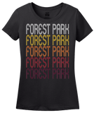 Ladies Black Forest Park, GA | Retro, Vintage Style Georgia Pride  T-shirt