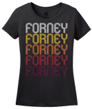 Ladies Black Forney, TX | Retro, Vintage Style Texas Pride  T-shirt