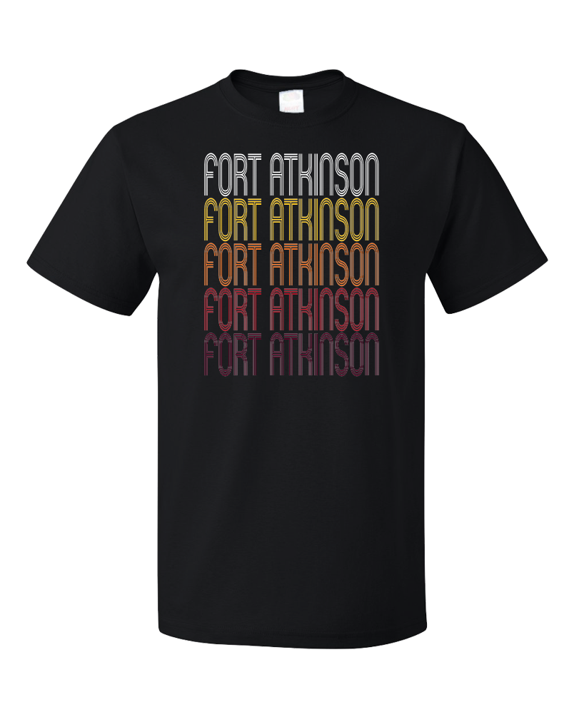 Standard Black Fort Atkinson, WI | Retro, Vintage Style Wisconsin Pride  T-shirt