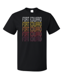 Standard Black Fort Edward, NY | Retro, Vintage Style New York Pride  T-shirt