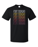 Standard Black Fort Morgan, CO | Retro, Vintage Style Colorado Pride  T-shirt