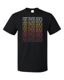 Standard Black Fort Myers Beach, FL | Retro, Vintage Style Florida Pride  T-shirt