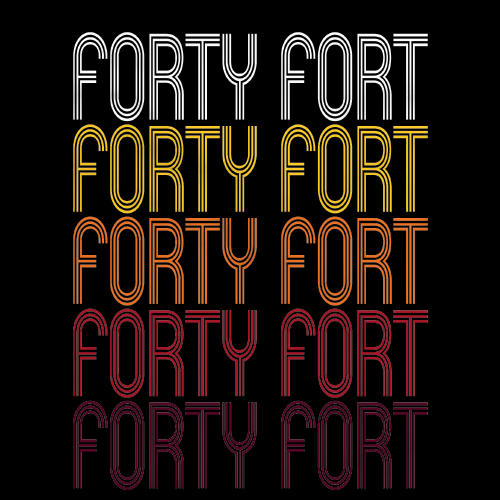 Forty Fort, PA | Retro, Vintage Style Pennsylvania Pride