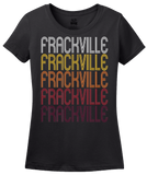 Ladies Black Frackville, PA | Retro, Vintage Style Pennsylvania Pride  T-shirt