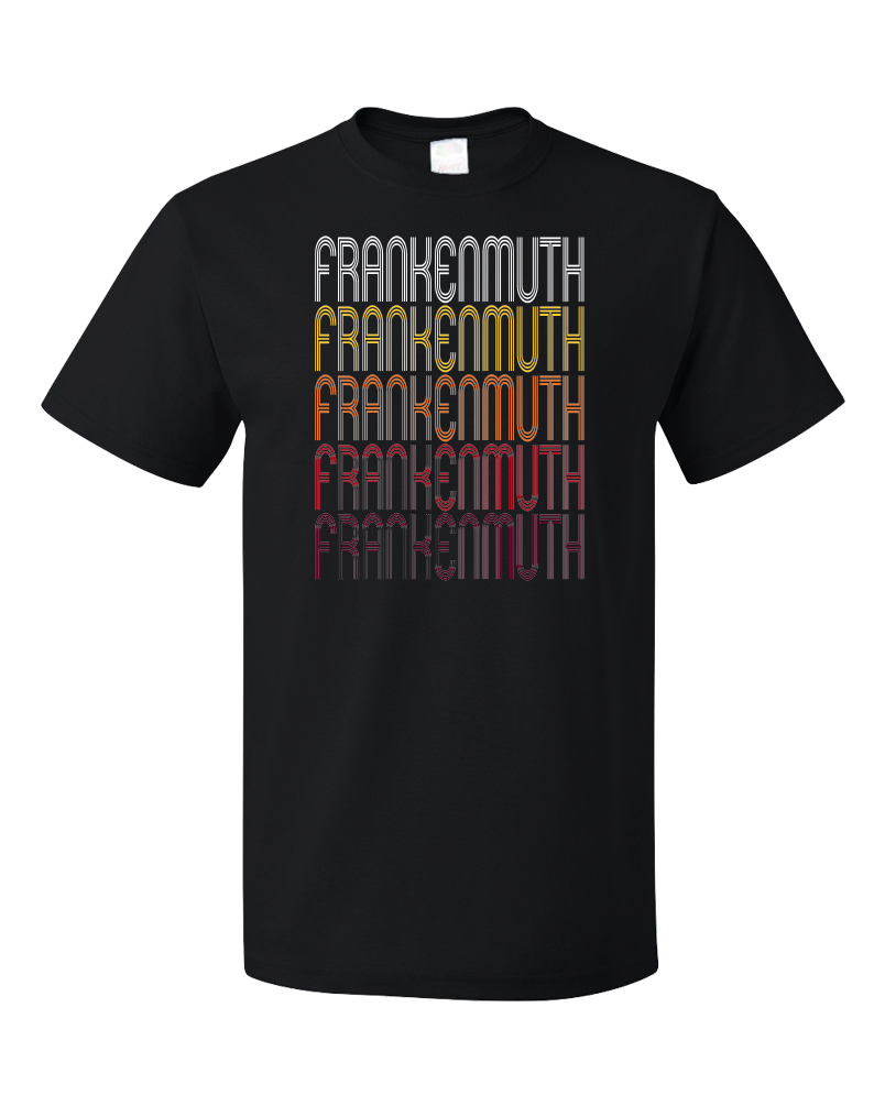 Standard Black Frankenmuth, MI | Retro, Vintage Style Michigan Pride  T-shirt