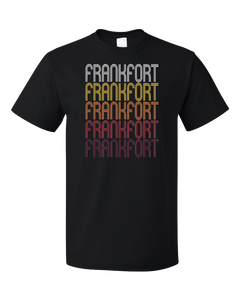 Standard Black Frankfort, KY | Retro, Vintage Style Kentucky Pride  T-shirt