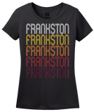 Ladies Black Frankston, TX | Retro, Vintage Style Texas Pride  T-shirt