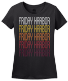 Ladies Black Friday Harbor, WA | Retro, Vintage Style Washington Pride  T-shirt