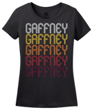 Ladies Black Gaffney, SC | Retro, Vintage Style South Carolina Pride  T-shirt