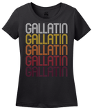 Ladies Black Gallatin, MO | Retro, Vintage Style Missouri Pride  T-shirt