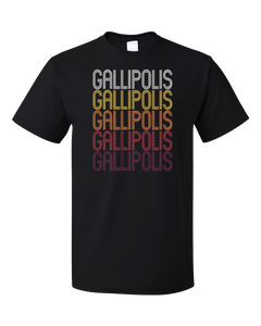 Standard Black Gallipolis, OH | Retro, Vintage Style Ohio Pride  T-shirt