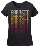 Ladies Black Garrett, IN | Retro, Vintage Style Indiana Pride  T-shirt