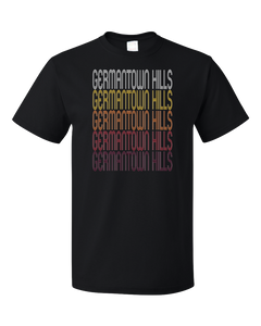 Standard Black Germantown Hills, IL | Retro, Vintage Style Illinois Pride  T-shirt