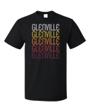 Standard Black Glenville, WV | Retro, Vintage Style West Virginia Pride  T-shirt