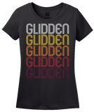 Ladies Black Glidden, IA | Retro, Vintage Style Iowa Pride  T-shirt