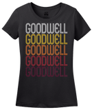 Ladies Black Goodwell, OK | Retro, Vintage Style Oklahoma Pride  T-shirt