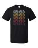 Standard Black Grain Valley, MO | Retro, Vintage Style Missouri Pride  T-shirt