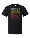 Standard Black Grand Isle, LA | Retro, Vintage Style Louisiana Pride  T-shirt