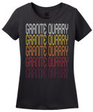 Ladies Black Granite Quarry, NC | Retro, Vintage Style North Carolina Pride  T-shirt