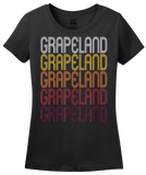 Ladies Black Grapeland, TX | Retro, Vintage Style Texas Pride  T-shirt