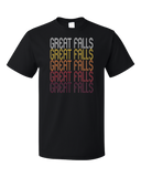 Standard Black Great Falls, MT | Retro, Vintage Style Montana Pride  T-shirt