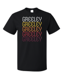 Standard Black Greeley, CO | Retro, Vintage Style Colorado Pride  T-shirt