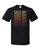 Standard Black Green Bay, WI | Retro, Vintage Style Wisconsin Pride  T-shirt