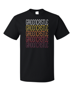 Standard Black Greencastle, IN | Retro, Vintage Style Indiana Pride  T-shirt