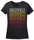 Ladies Black Greenfield, MN | Retro, Vintage Style Minnesota Pride  T-shirt