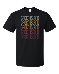 Standard Black Green Island, NY | Retro, Vintage Style New York Pride  T-shirt