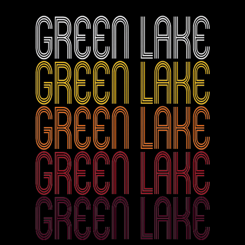 Green Lake, WI | Retro, Vintage Style Wisconsin Pride