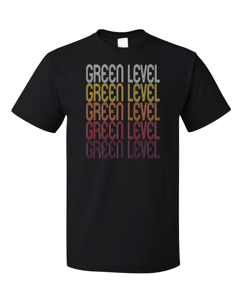 Standard Black Green Level, NC | Retro, Vintage Style North Carolina Pride  T-shirt