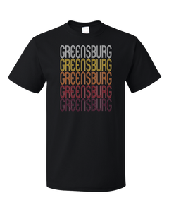 Standard Black Greensburg, KS | Retro, Vintage Style Kansas Pride  T-shirt