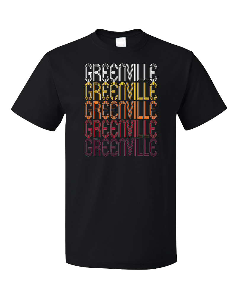 Standard Black Greenville, MI | Retro, Vintage Style Michigan Pride  T-shirt