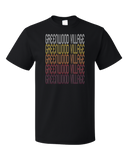 Standard Black Greenwood Village, CO | Retro, Vintage Style Colorado Pride  T-shirt
