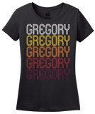 Ladies Black Gregory, SD | Retro, Vintage Style South Dakota Pride  T-shirt