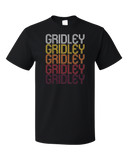 Standard Black Gridley, CA | Retro, Vintage Style California Pride  T-shirt