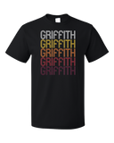 Standard Black Griffith, IN | Retro, Vintage Style Indiana Pride  T-shirt