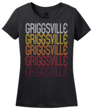 Ladies Black Griggsville, IL | Retro, Vintage Style Illinois Pride  T-shirt