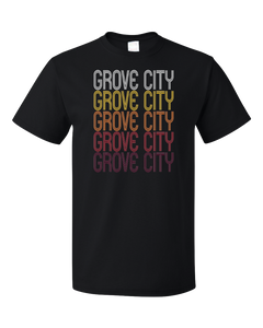 Standard Black Grove City, PA | Retro, Vintage Style Pennsylvania Pride  T-shirt